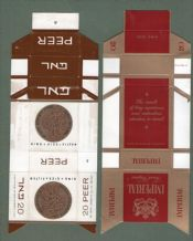 4 different cigarette packets ISRAEL+ Military Tax stamp #019